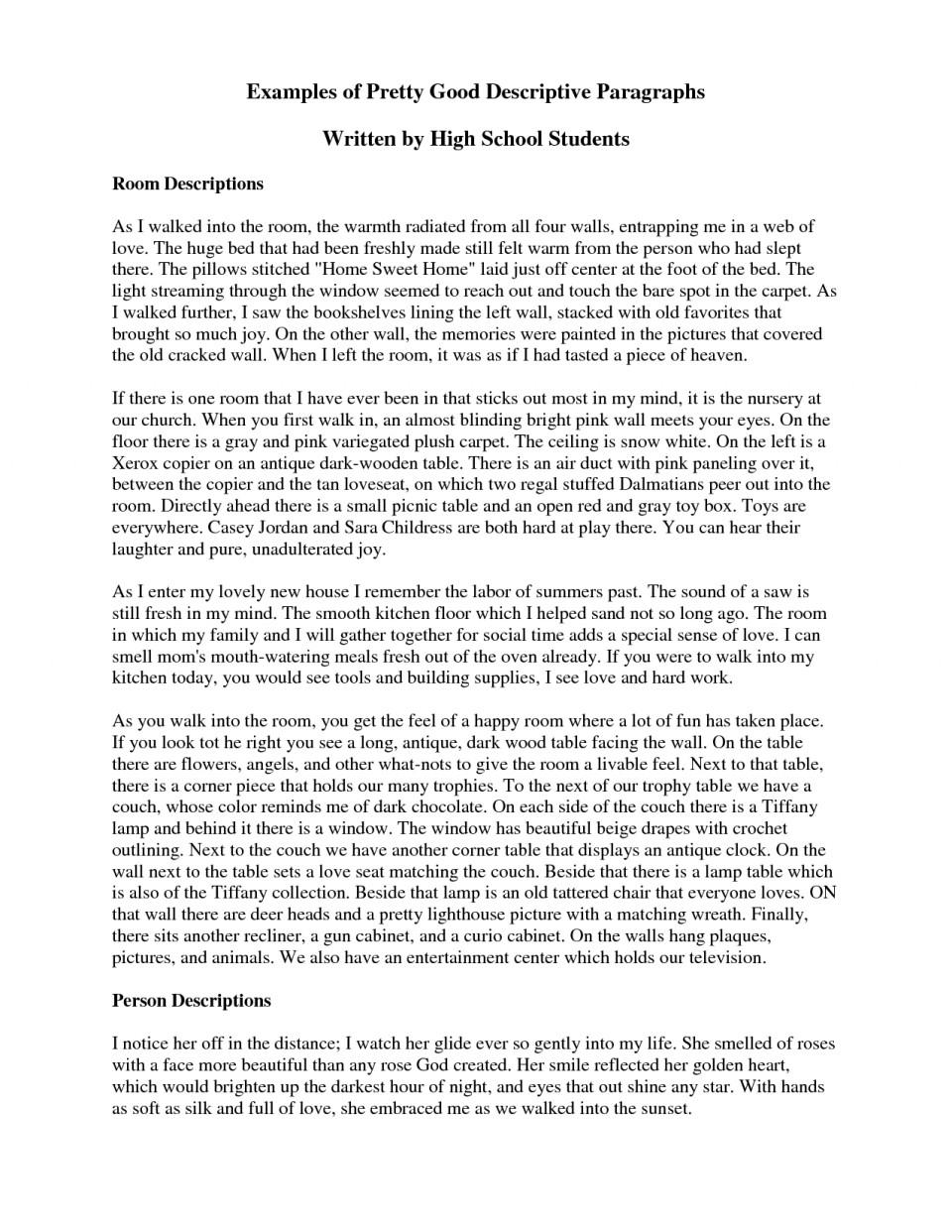021 Descriptive Essayss Short Paragraph Essay Amazing Essays Examples Sample About A Person Pdf Free Spm 960