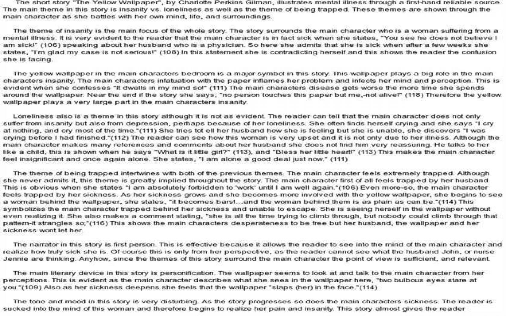 021 English Essays Essay Example 1680x1050 Yellow Wallpaper Rare 101 Reading And Writing Topics Full