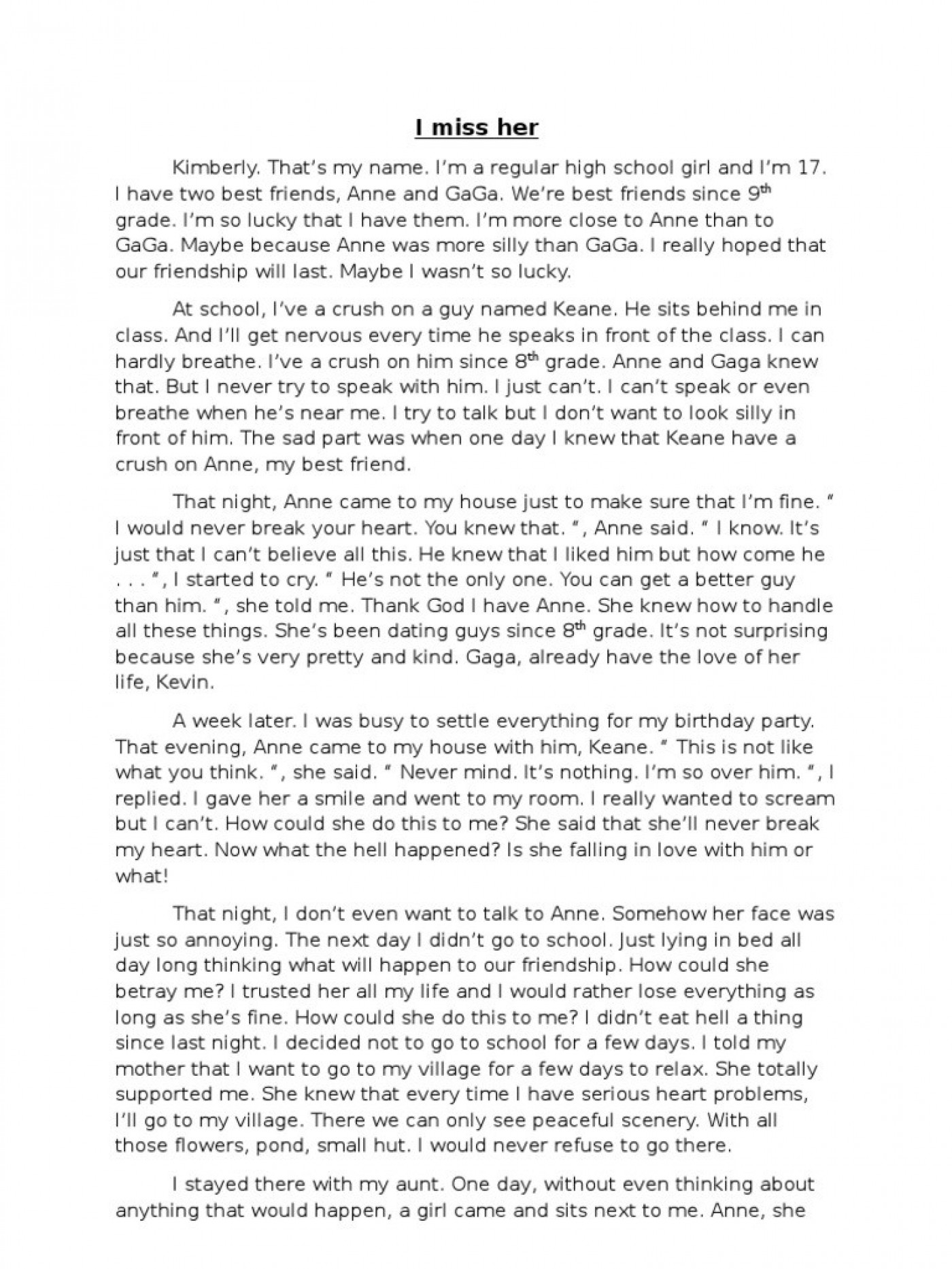 Narrative essay on bullying