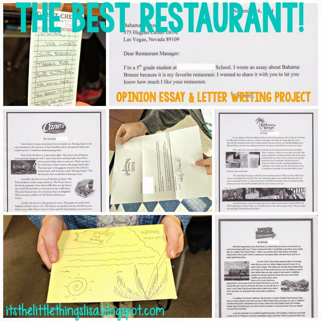021 Essay About Favorite Restaurant Beautiful Your Write An Large