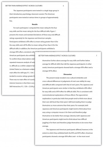 021 Essay Example Apa Phenomenal Format Sample Paper For College With Abstract 360