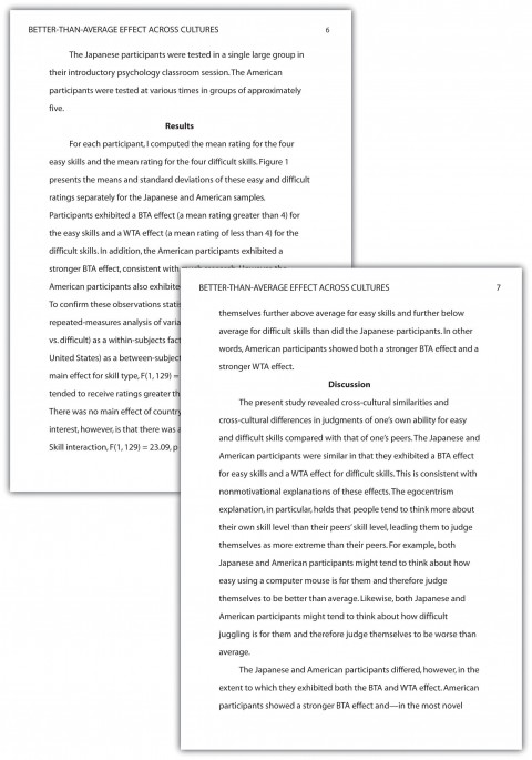 021 Essay Example Apa Phenomenal Format Sample Paper For College With Abstract 480