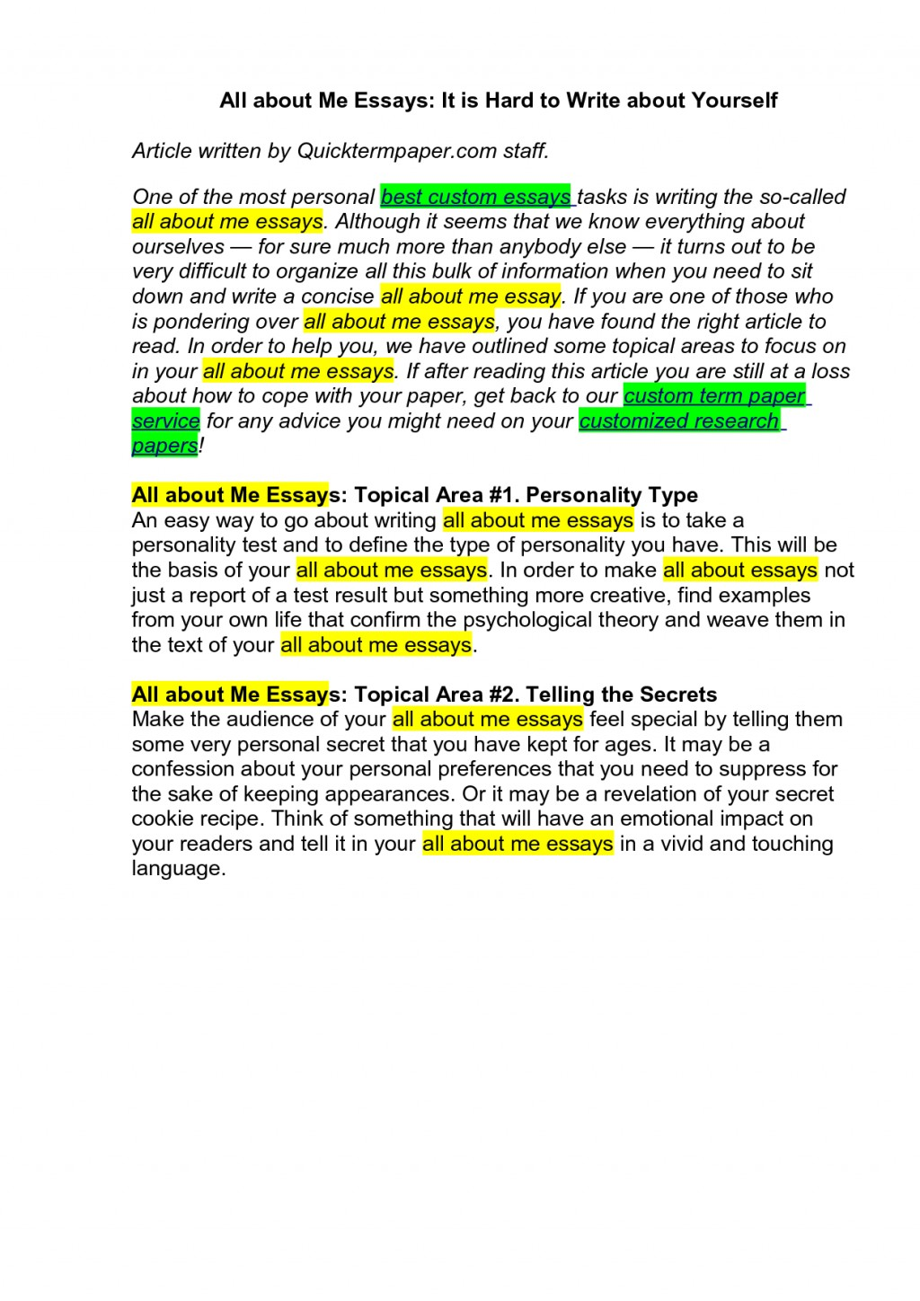 021 Essay Example How To Start An Amazing With A Hook Do U About Book Autobiography Yourself Large
