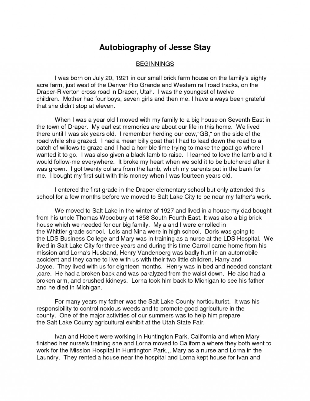 021 Essay Example How To Write Autobiography On Yourself Goal Blockety Co Great Examples High School Of My Samples Good Therefore S Introductions Expectations Scholarship Personal Gatsby Formidable About Tagalog A Narrative Introduction Large