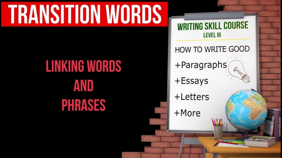 021 Essay Example Transition Words For Essays Rare And Phrases List Pdf 4th Grade Of Writing 960