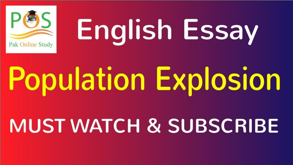 021 Essay On Population Example Impressive Control Explosion In Kannada Pakistan Large