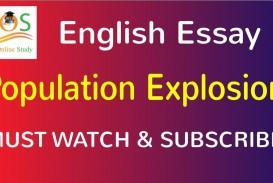 021 Essay On Population Example Impressive Control Explosion In Kannada Pakistan