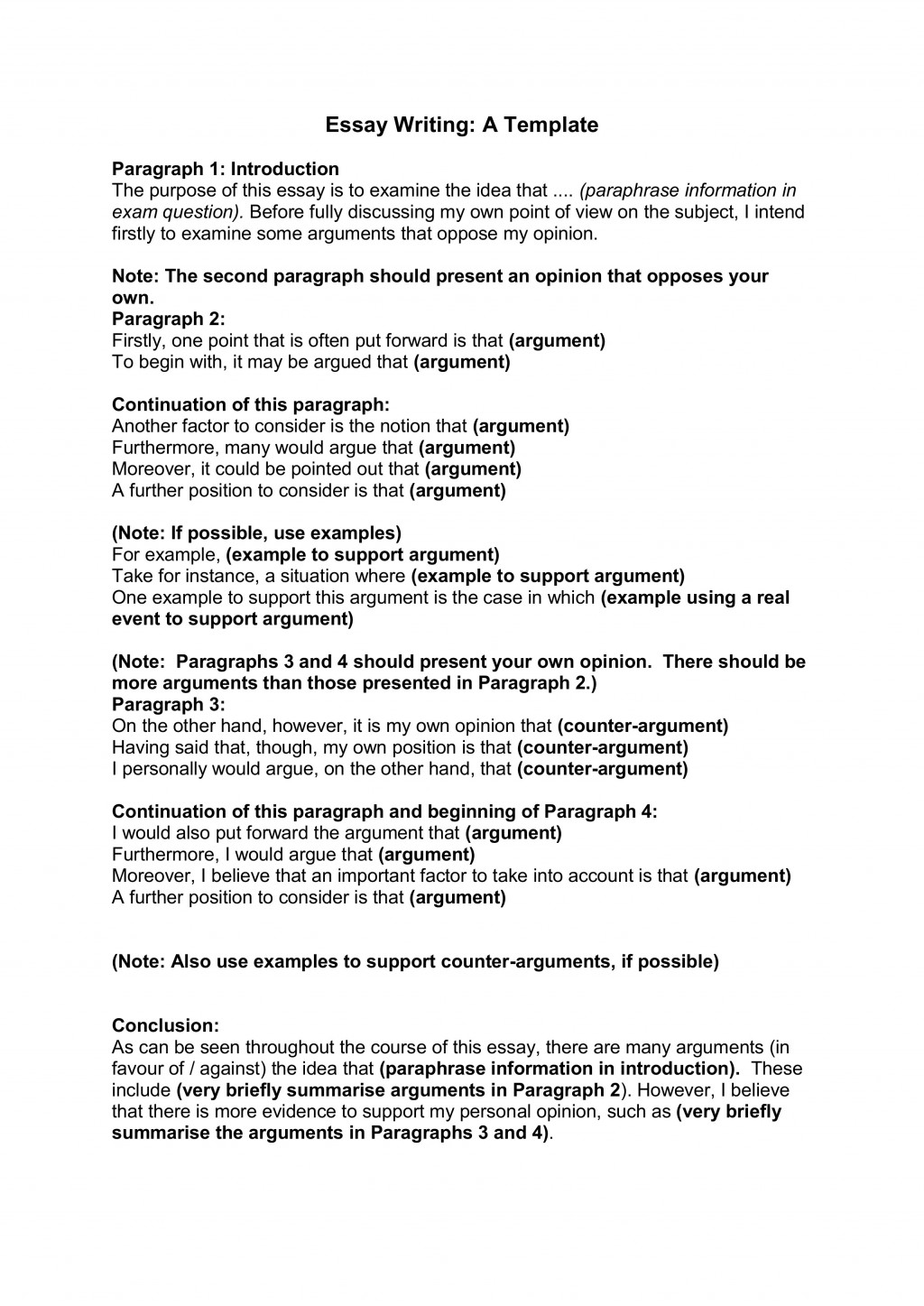 021 Essay Writing Template For Part How To Start Off Body Paragraph In An Impressive A The First Words Large