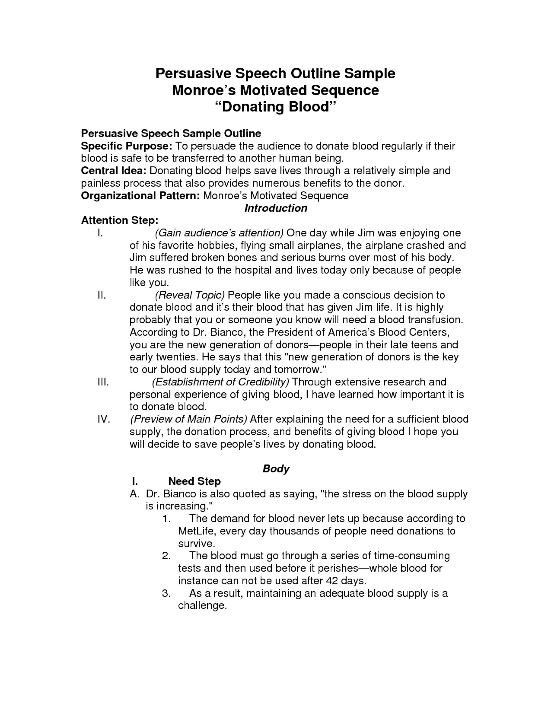 021 Example Of Persuasive Essay Speech Outline Template Stupendous A Argumentative Bullying On Legalizing Weed 1920