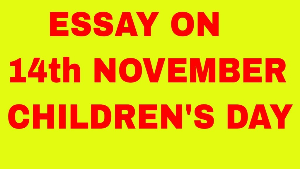 021 Maxresdefault Essay On Children Rare Children's Day In Kannada Telugu Large