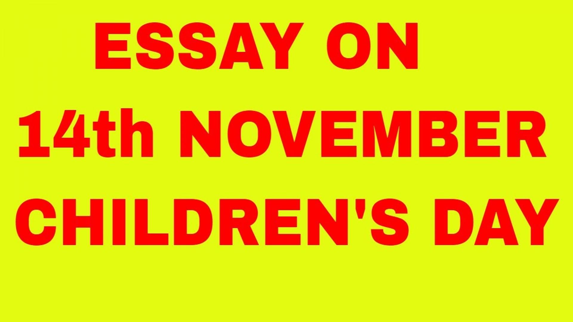 021 Maxresdefault Essay On Children Rare Children's Day In Kannada Telugu 1920
