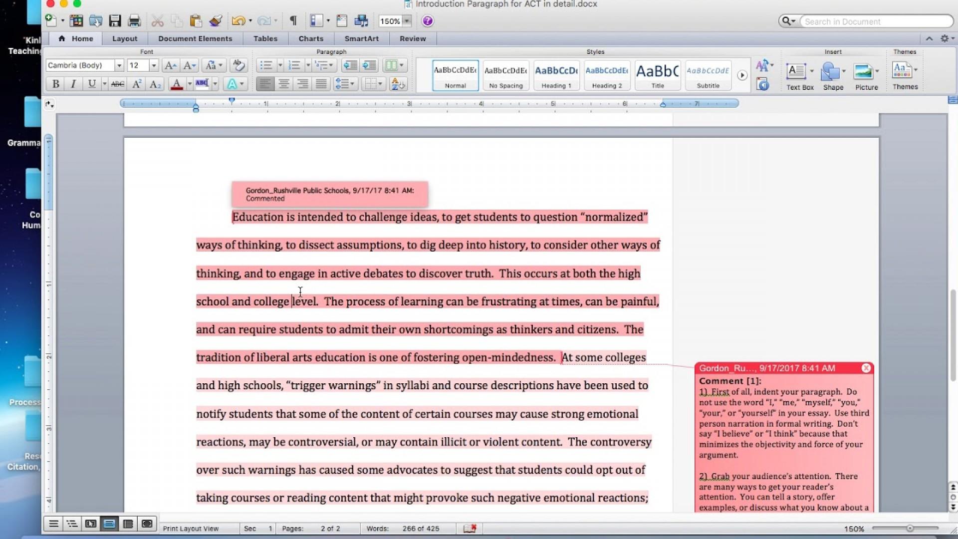 Discribtive essay