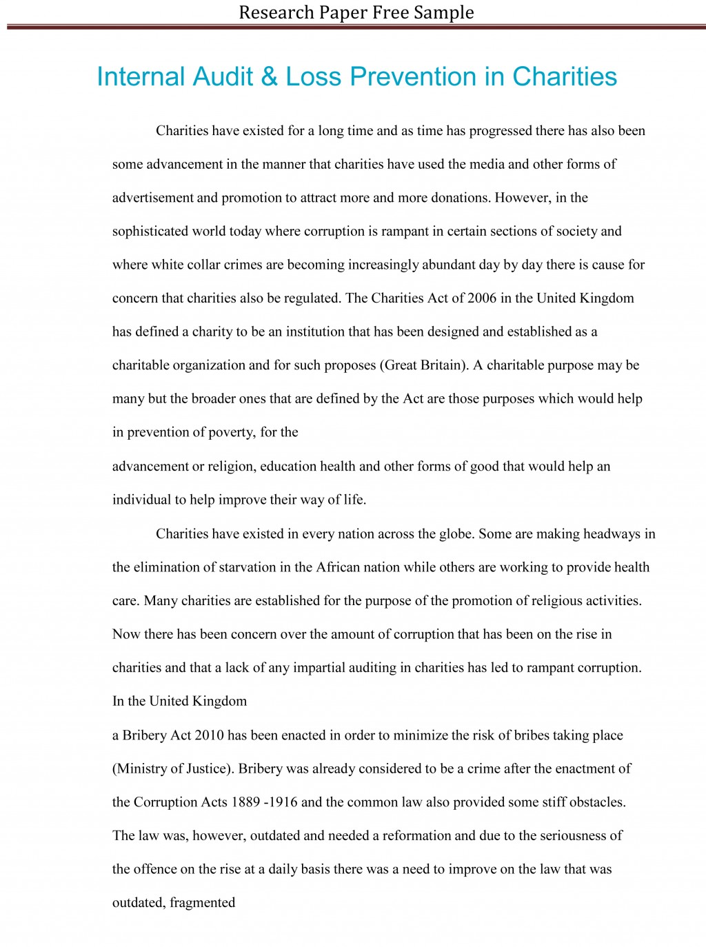 021 Research Paper Sample Essay Example High School Experience Dreaded Free Large