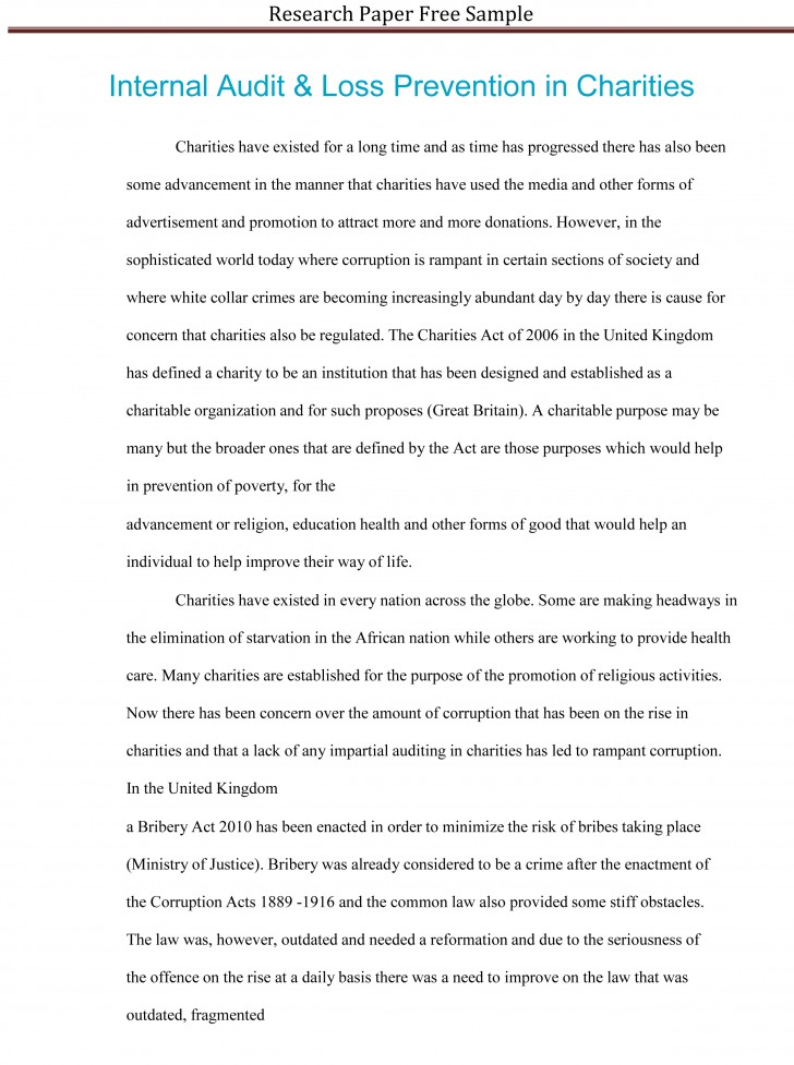 021 Research Paper Sample Essay Example High School Experience Dreaded Free 728
