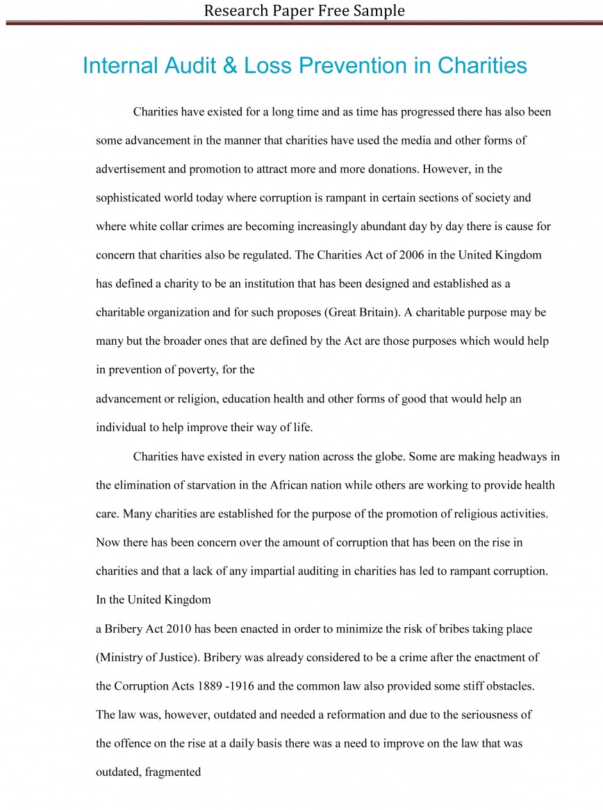 021 Research Paper Sample Essay Example High School Experience Dreaded Free 868
