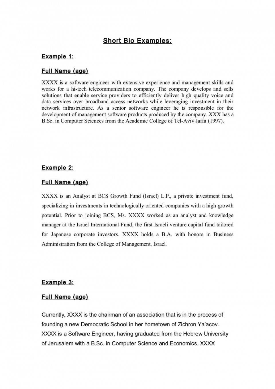 013 student autobiography template college example