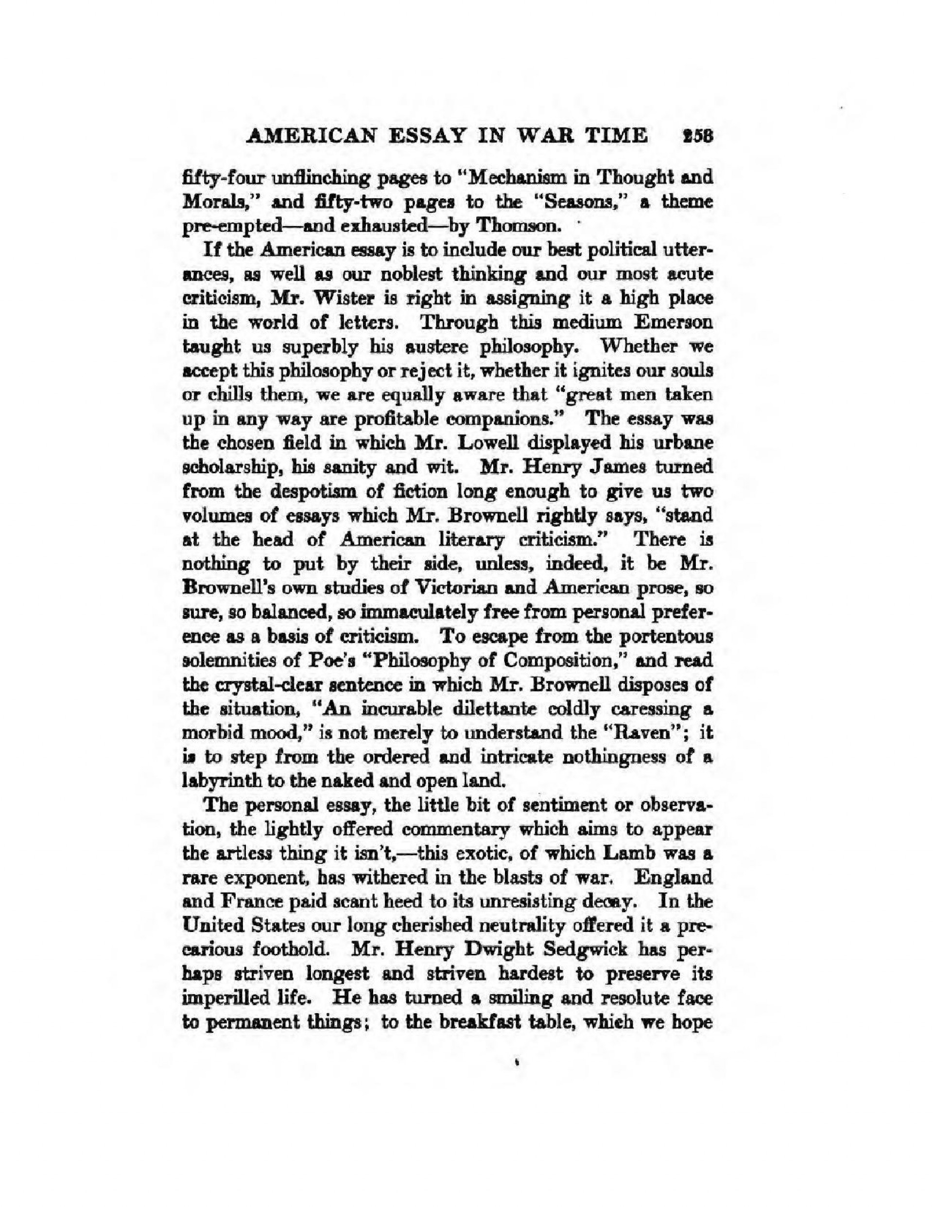 022 American Essay Example Page5 1275px The In War Time2c Agnes Repplier2c 1918 Striking Dream Scholarship Native Titles Style 1920