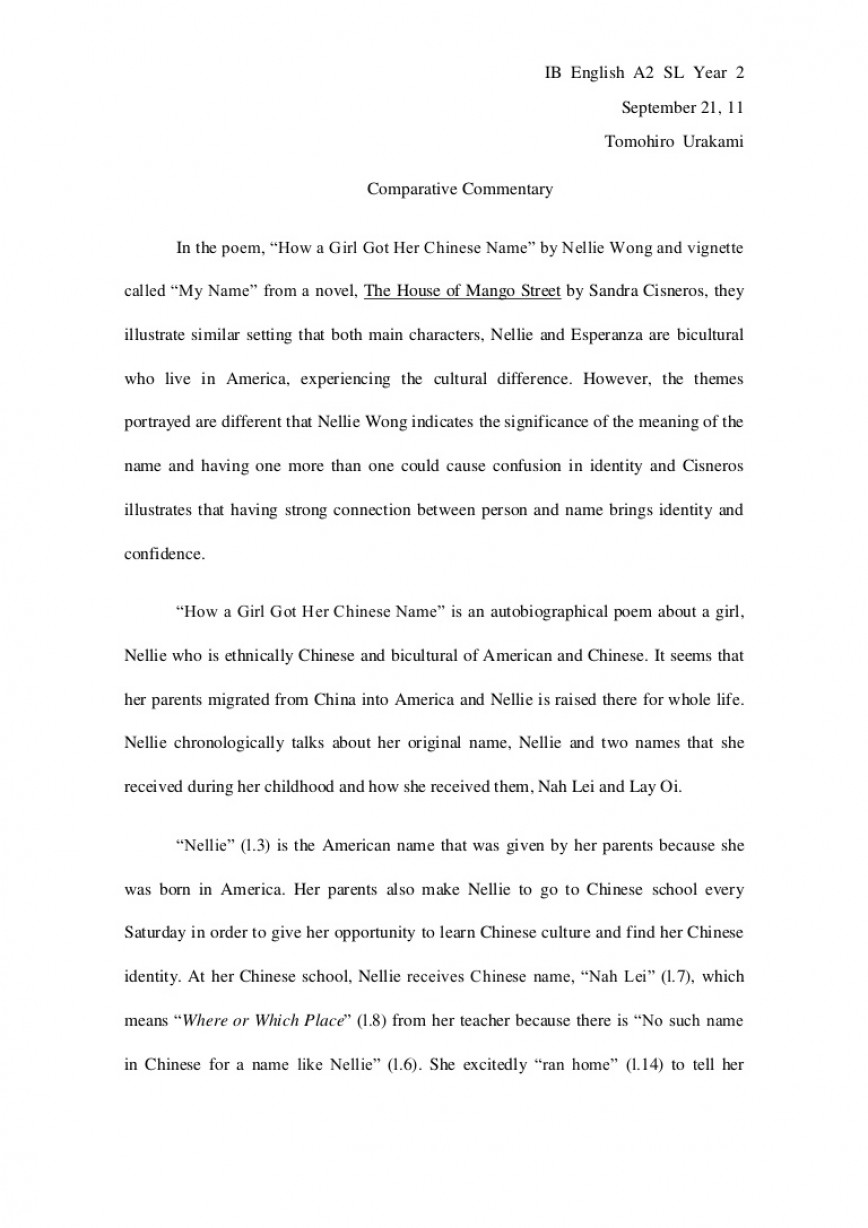 022 Comparativeessaydraft Phpapp02 Thumbnail Essay Example Exceptional Name Names In English Mla Format Examples