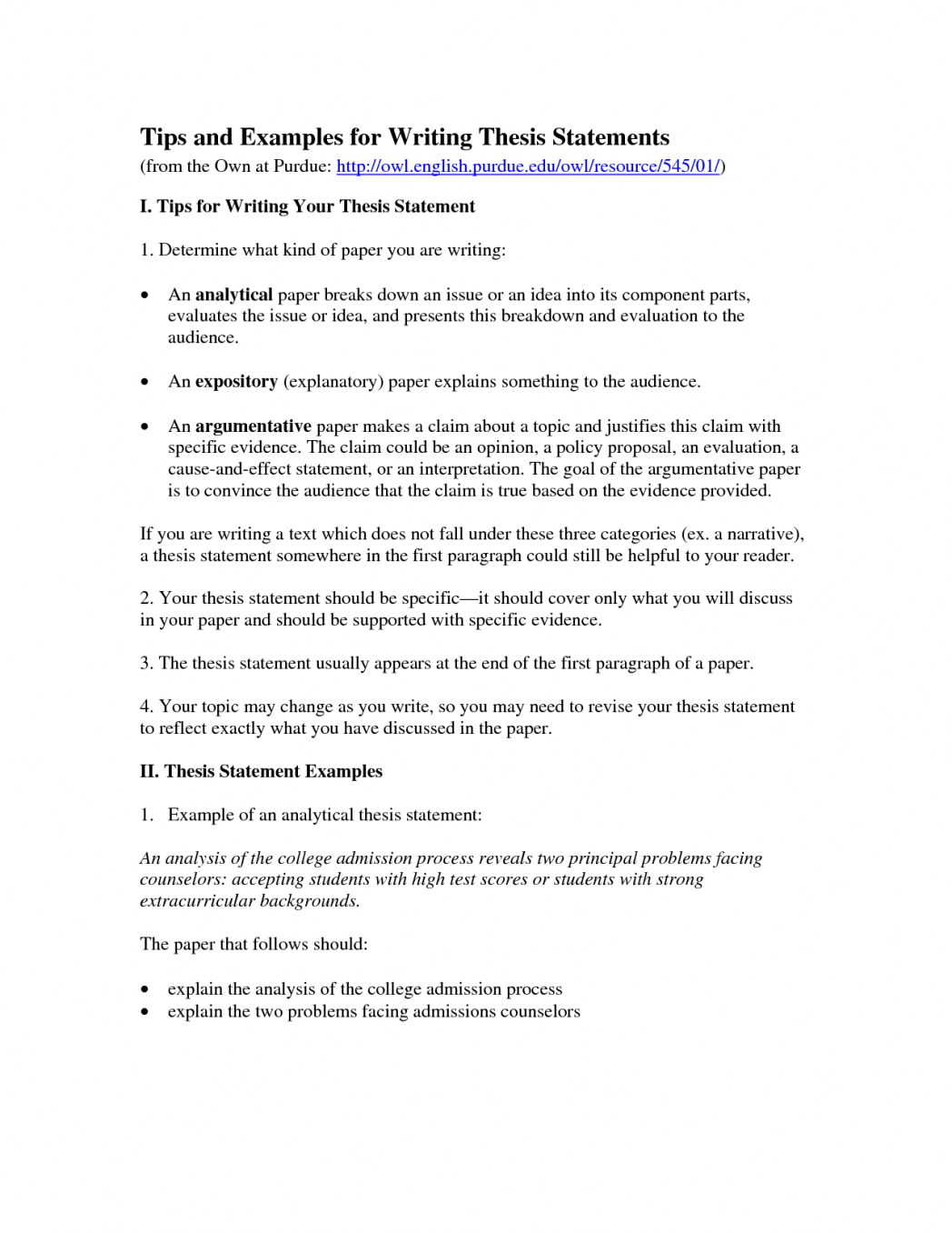Examples of summary essays