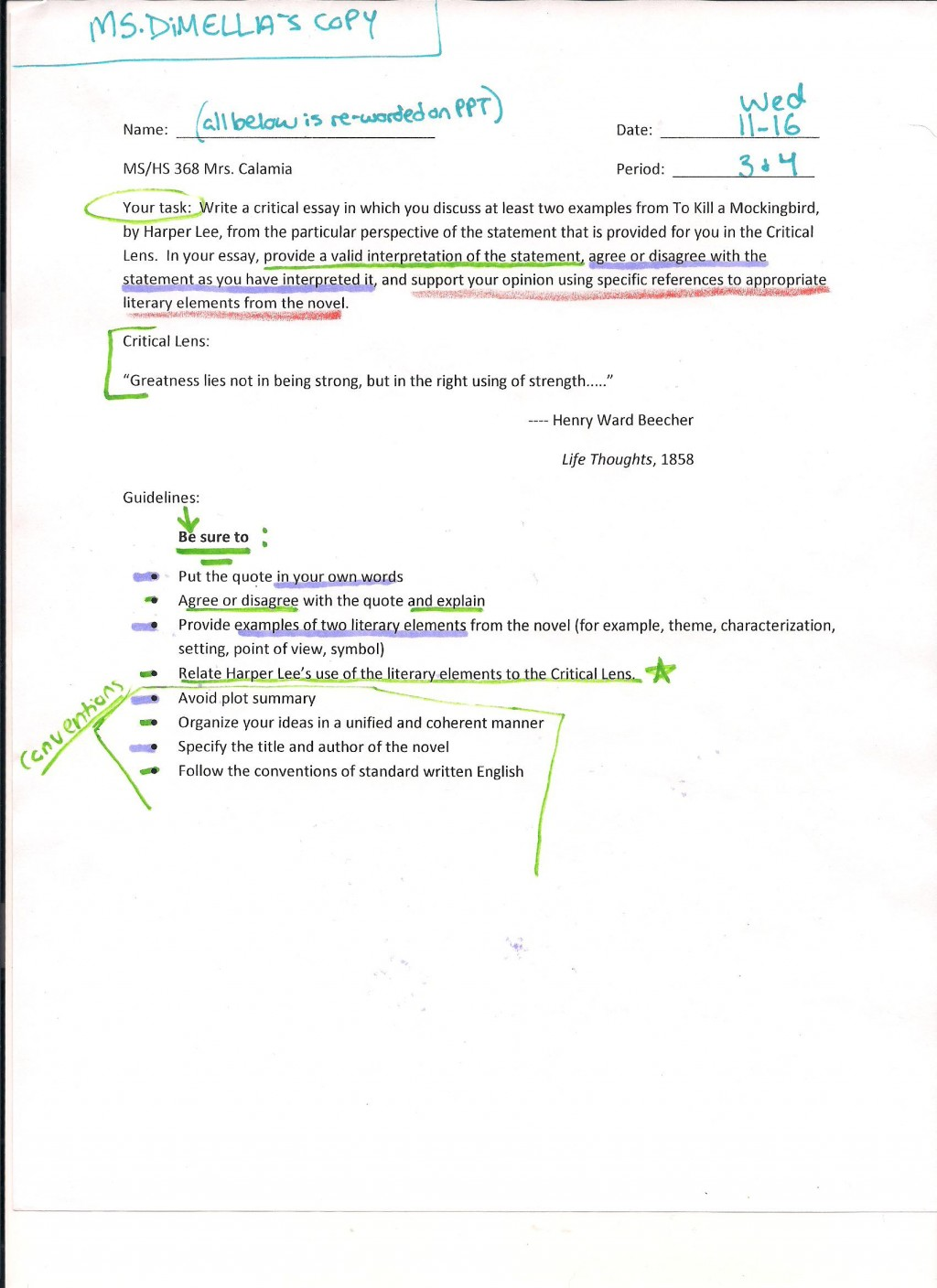 022 Critical Lens Essay  Hs Planning Midterm Best Sample Template Example English RegentsLarge