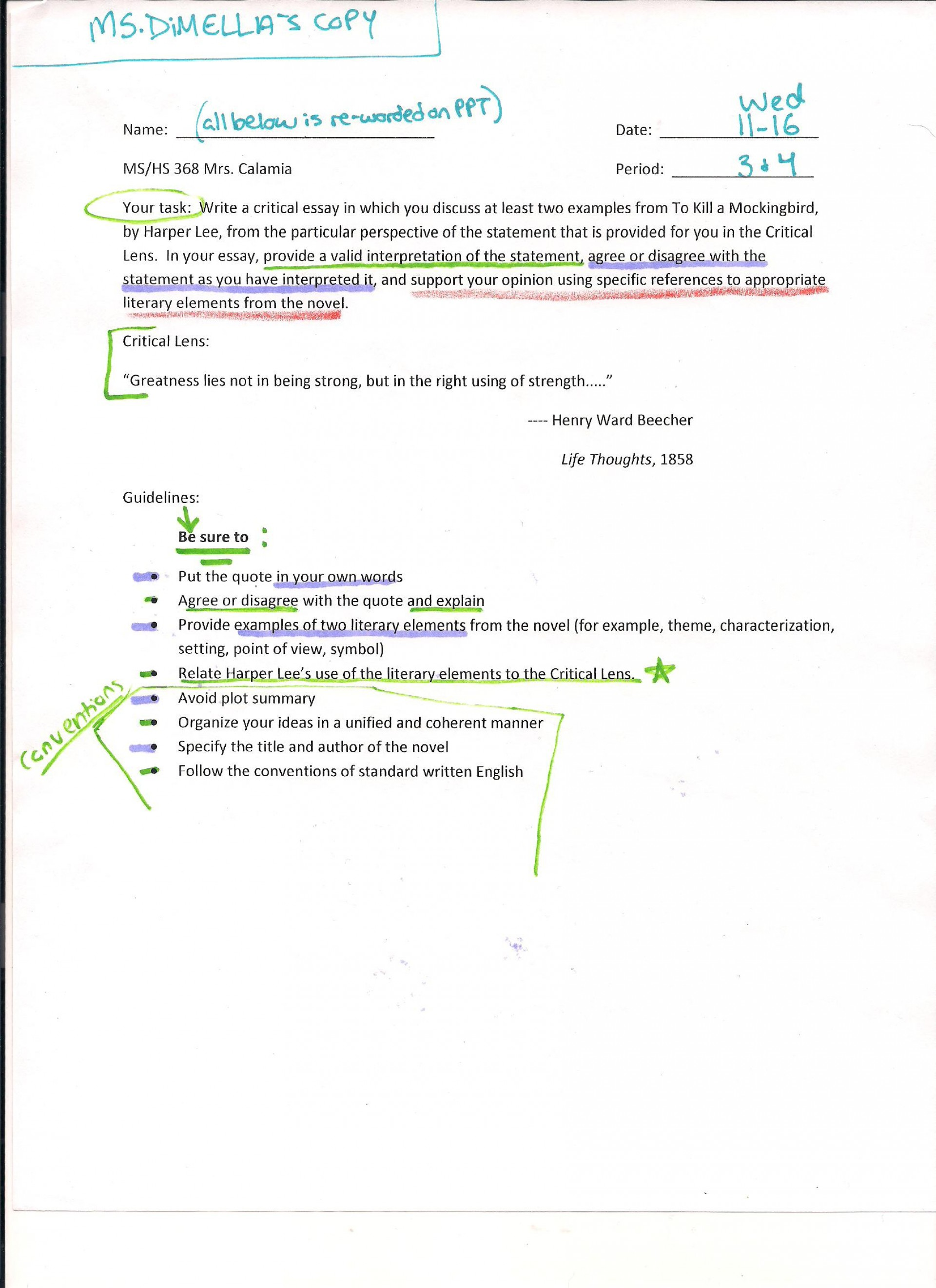 022 Critical Lens Essay  Hs Planning Midterm Best Sample Template Example English Regents1920