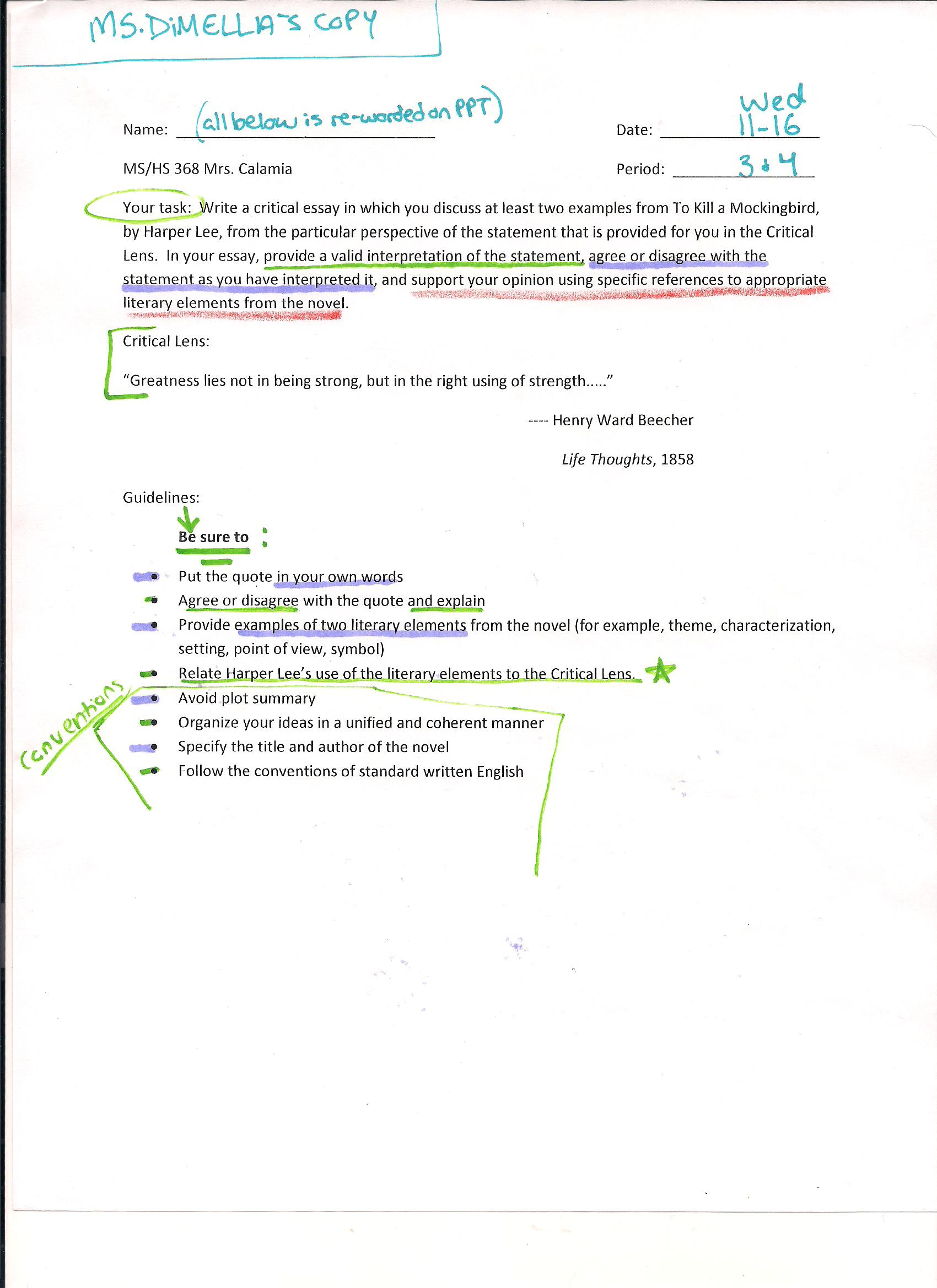 022 Critical Lens Essay  Hs Planning Midterm Best Sample Template Example English RegentsFull