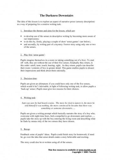 010 Essay Example Describing Person How To Write Descriptive