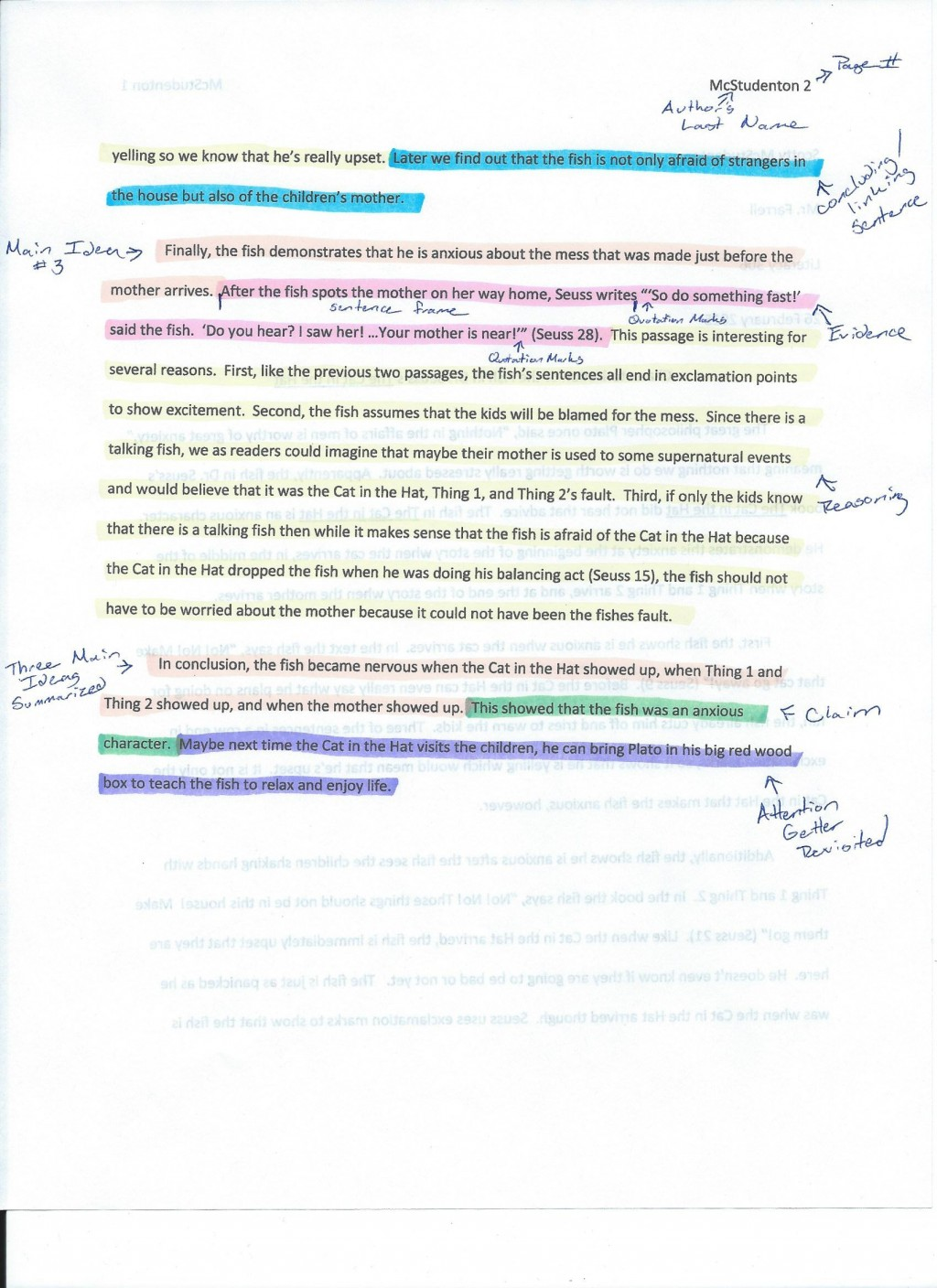 022 Essay Example Annotated Cat In The Hat Cerca Page 2 Of Argumentative Beautiful Conclusion Introduction Body And Large