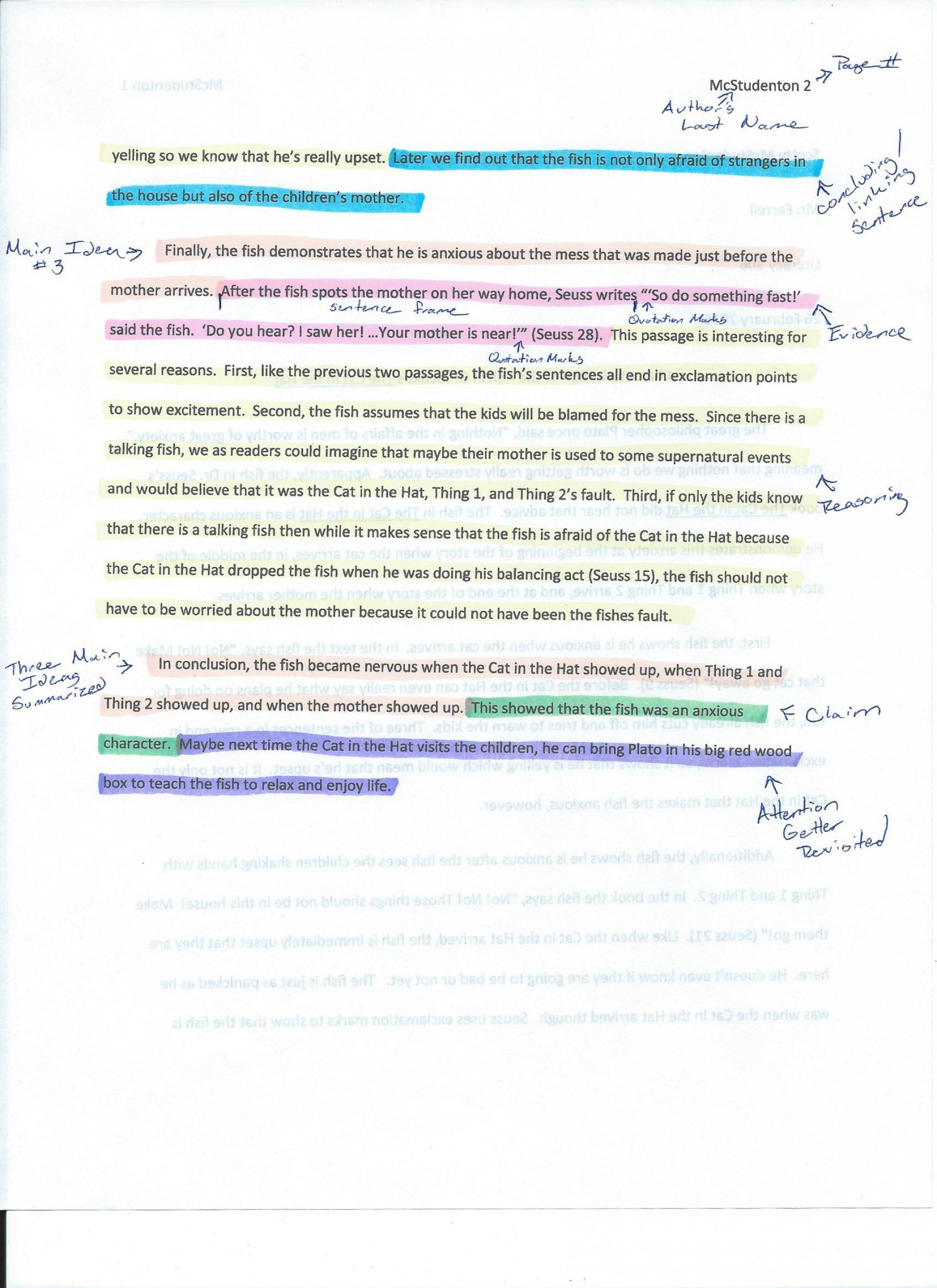 022 Essay Example Annotated Cat In The Hat Cerca Page 2 Of Argumentative Beautiful Conclusion Introduction Body And 1920