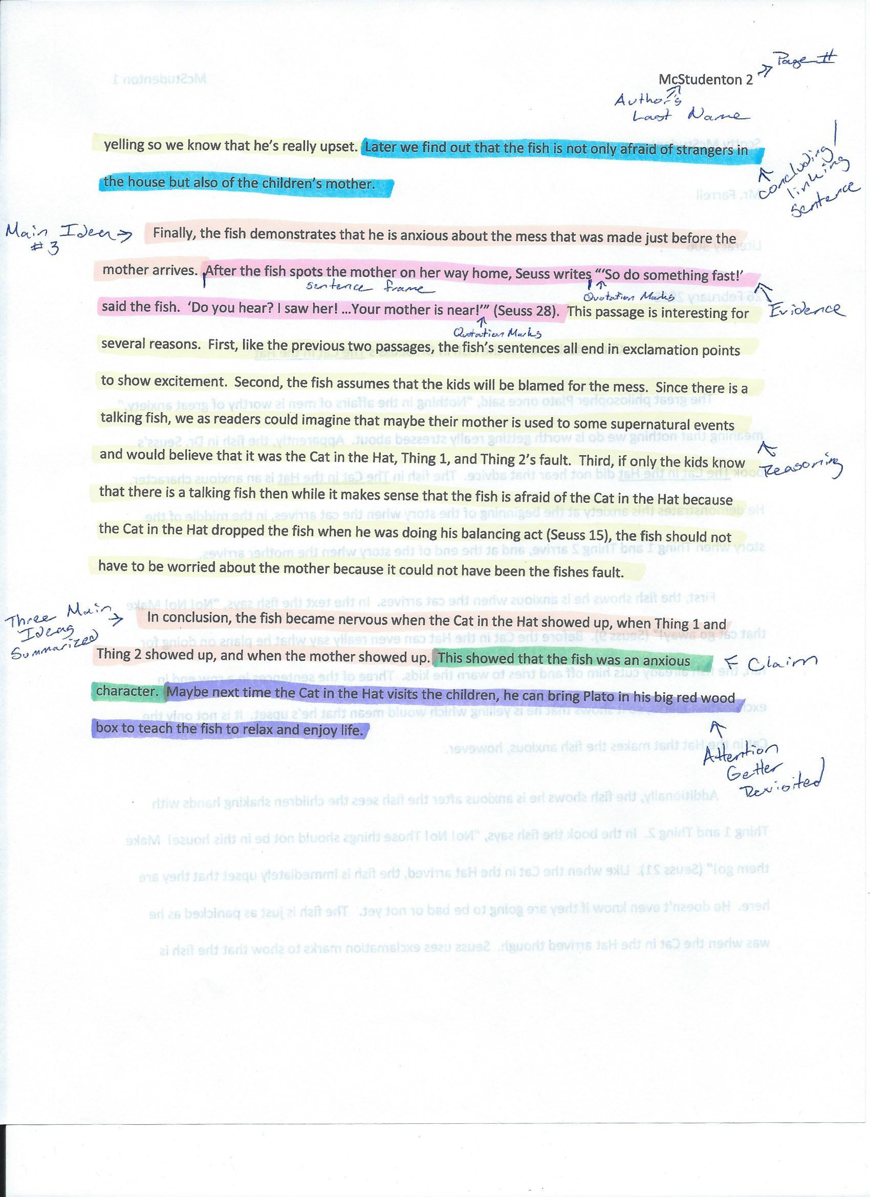 022 Essay Example Annotated Cat In The Hat Cerca Page 2 Of Argumentative Beautiful Conclusion Introduction Body And Full