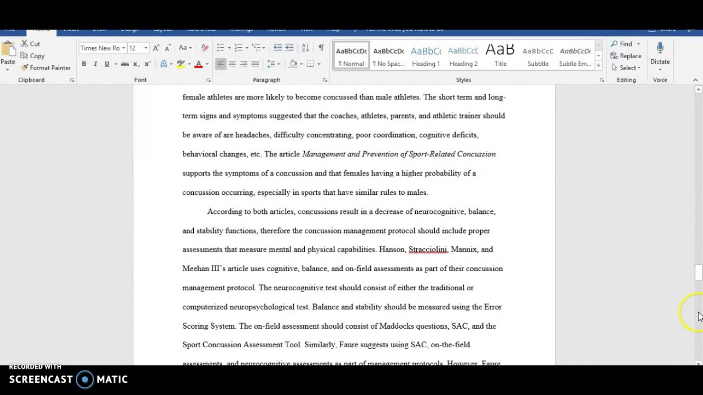 022 Essay Example Apa Format Phenomenal Sample Paper For College With Abstract 1400