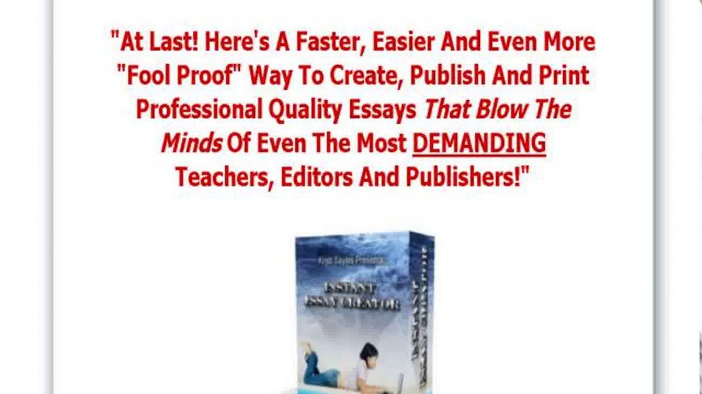022 Essay Example Creator Breathtaking Photo Online Conclusion Generator 1400