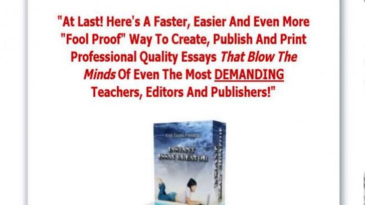 022 Essay Example Creator Breathtaking Photo Online Conclusion Generator 728