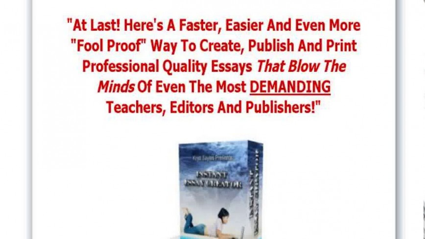 022 Essay Example Creator Breathtaking Photo Online Conclusion Generator 868