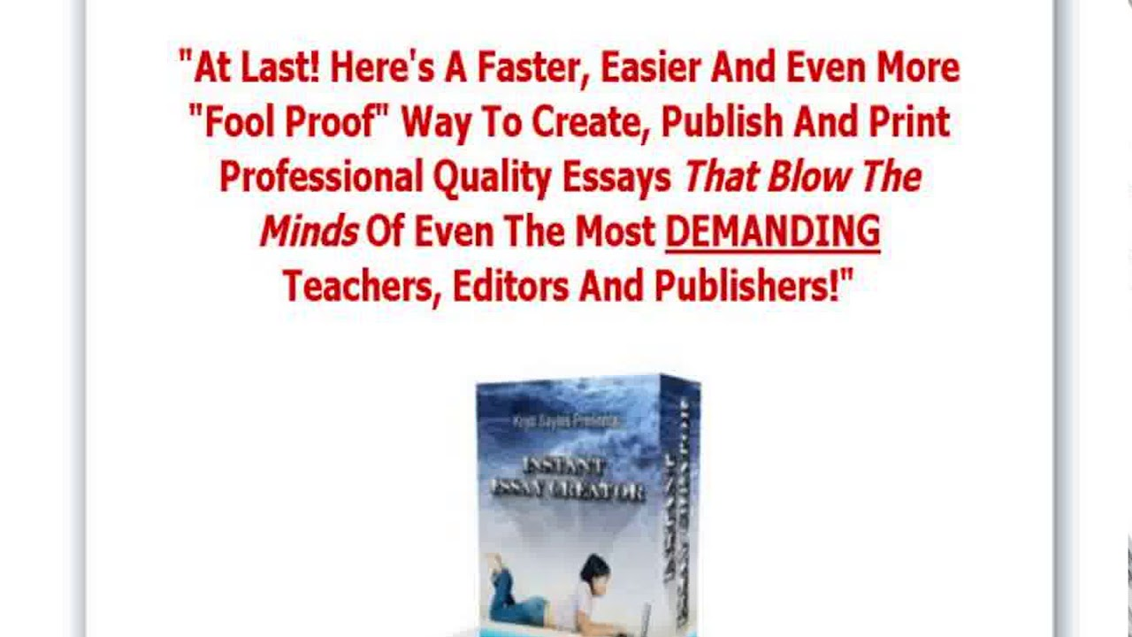 022 Essay Example Creator Breathtaking Thesis Full