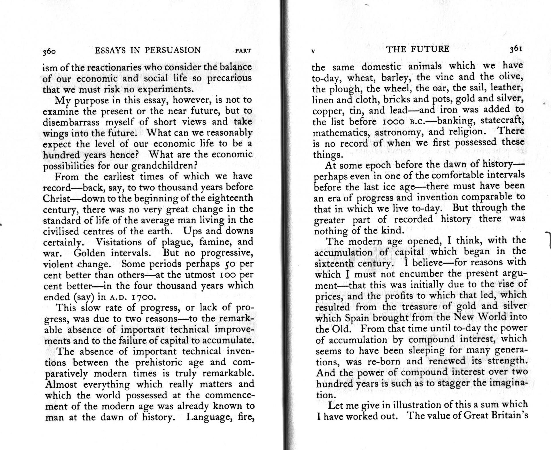 022 Essay Example Essays In Remarkable Persuasion Audiobook Pdf John Maynard Keynes Summary 1920