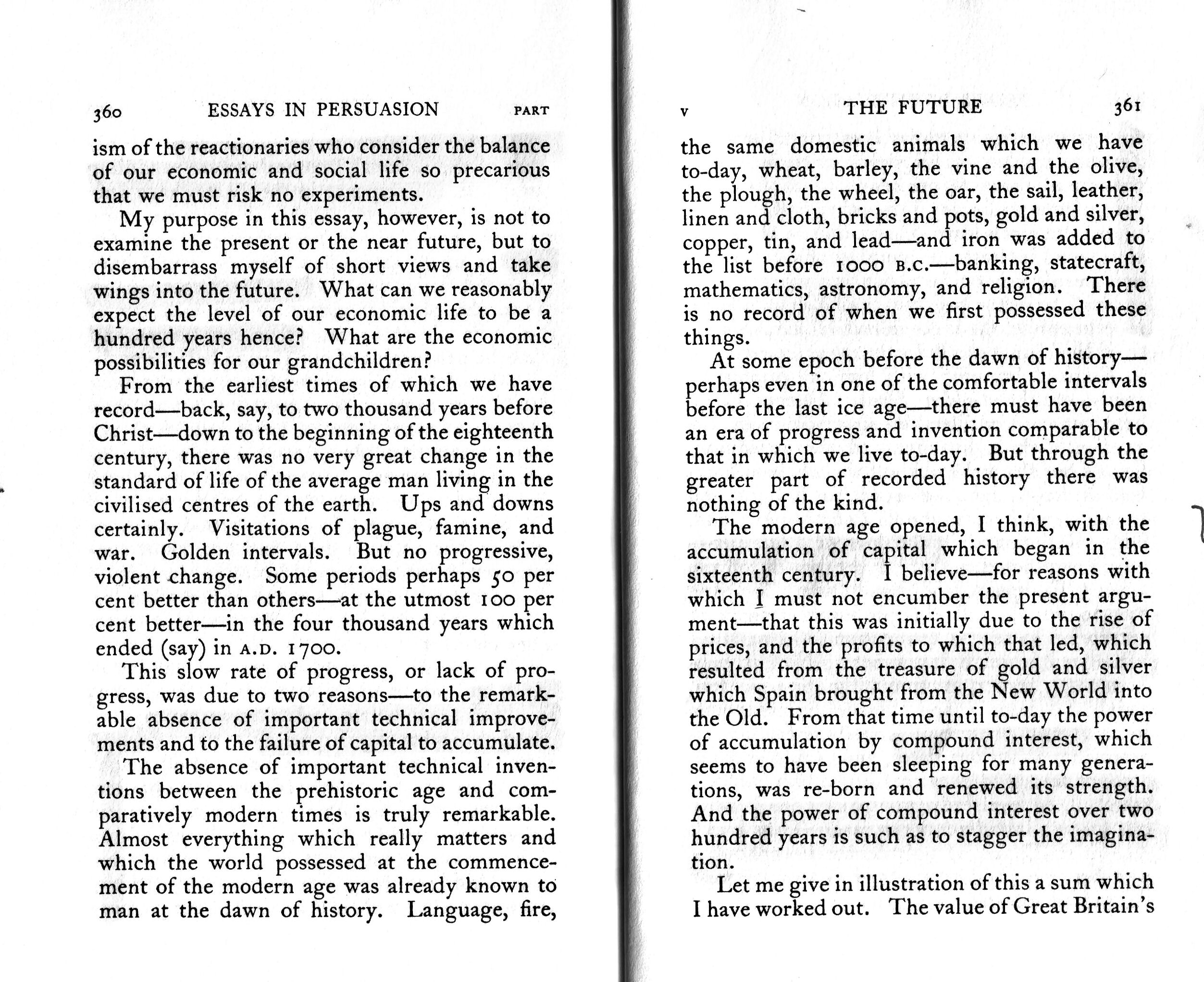 022 Essay Example Essays In Remarkable Persuasion Keynes 1931 Wikipedia Summary Full