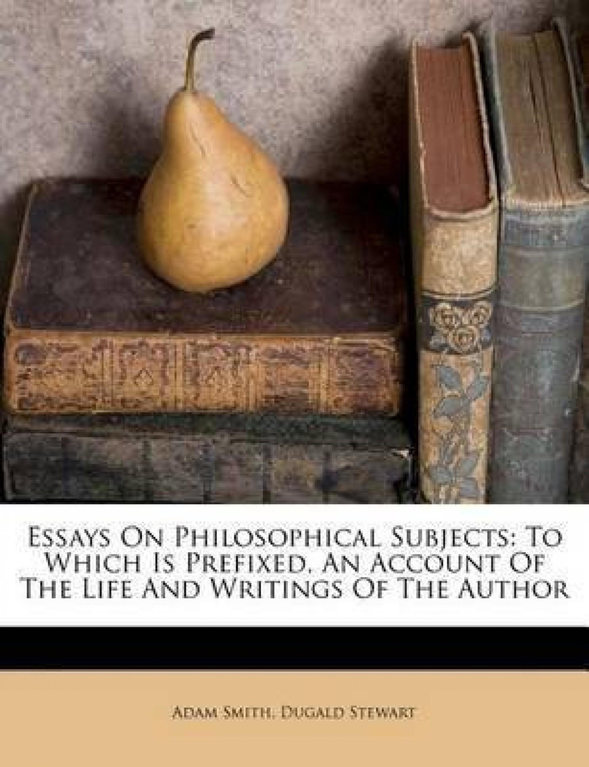 022 Essay Example Essays On Philosophical Subjects Original Best Smith Pdf 1920