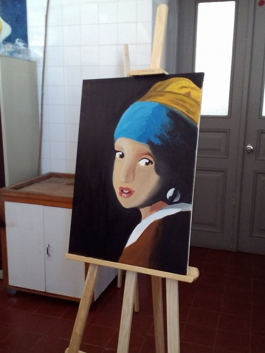 022 Essay Example Girl With Pearl Earring Oil Painting  A By Eleanor Devil Outstanding The Movie Film Review868