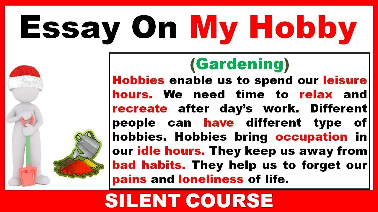 022 Essay Example On My Hobby In English Gardening Youtube Garden Creative Stunning By Henk Gerritsen Sanskrit Language Hindi Full