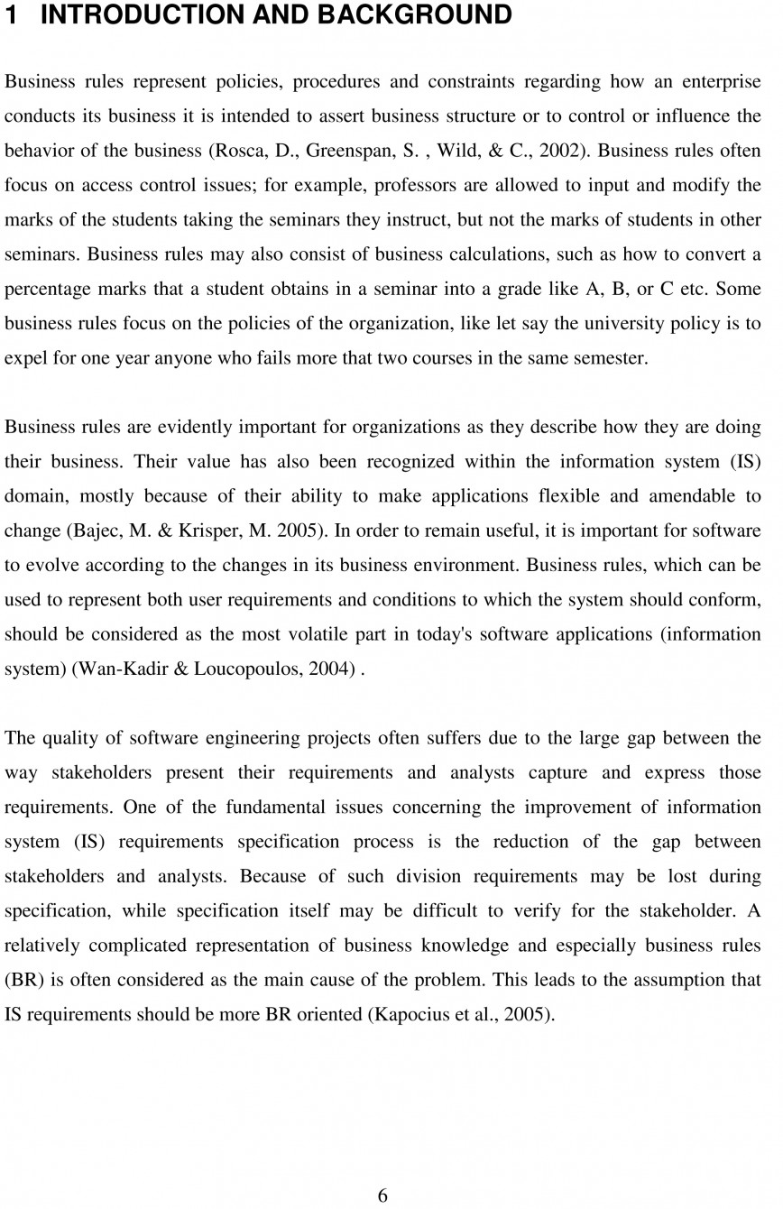 022 Essay Example Thesis Free Sample Impressive Admission Business School Format For College
