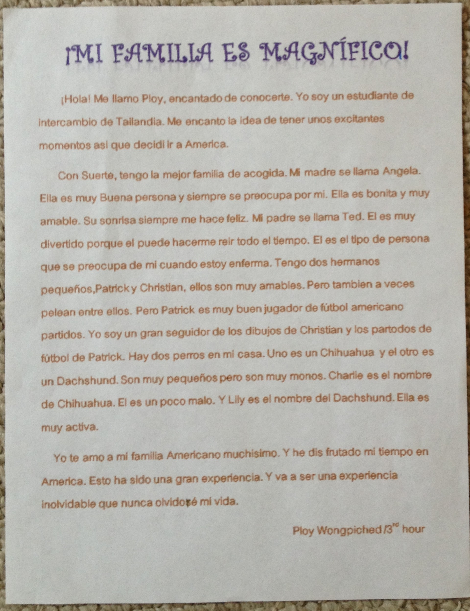 022 Essay Example Translate My Into Spanish In Remarkable 1920