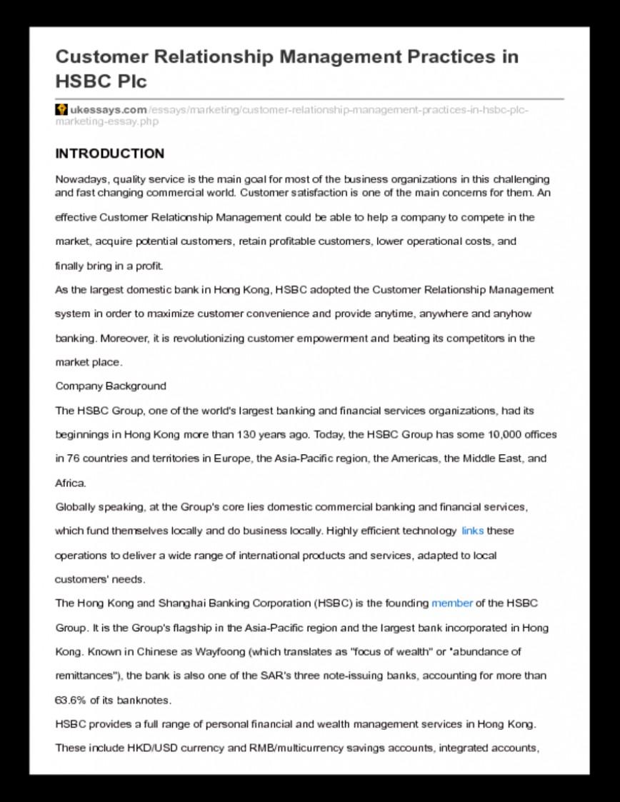 022 Essay Example Uk Essays Customer20relationship20management20class20notes 258461120 Ukessays Com Customer Relationship Management Practices In Hsbc Stupendous Discount Harvard Referencing