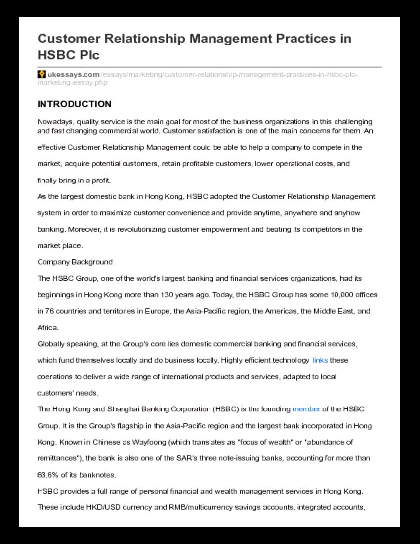 022 Essay Example Uk Essays Customer20relationship20management20class20notes 258461120 Ukessays Com Customer Relationship Management Practices In Hsbc Stupendous New Reviews Apa Login Full