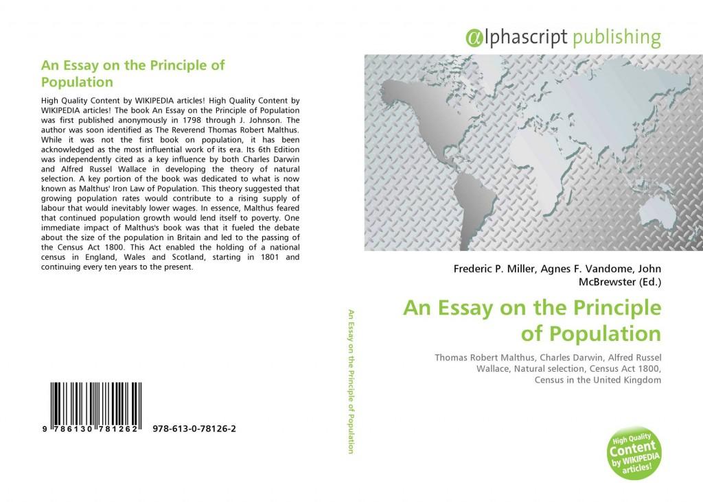 022 Essay On The Principle Of Population Example Singular Pdf By Thomas Malthus Main Idea Large