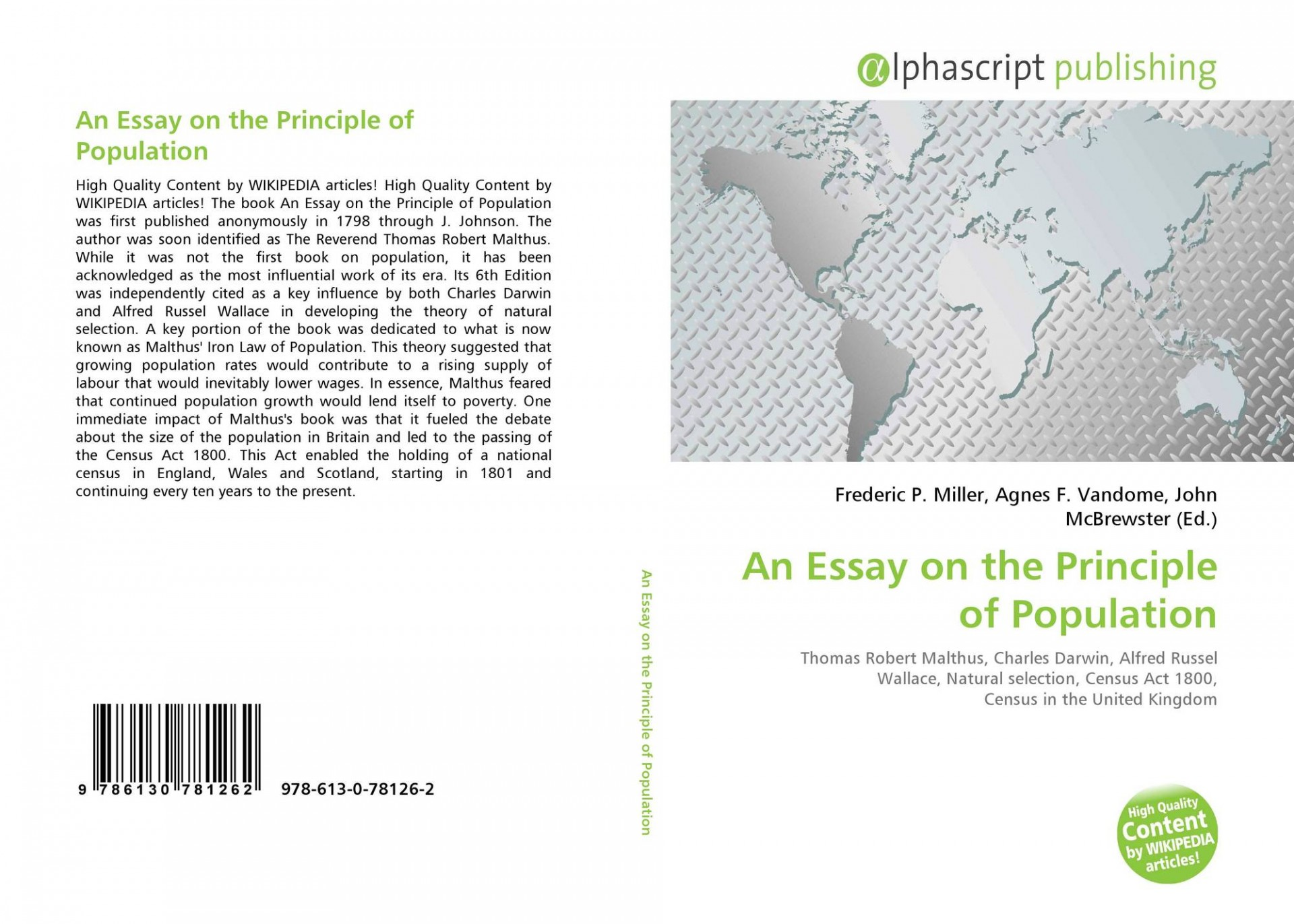 022 Essay On The Principle Of Population Example Singular Pdf By Thomas Malthus Main Idea 1920