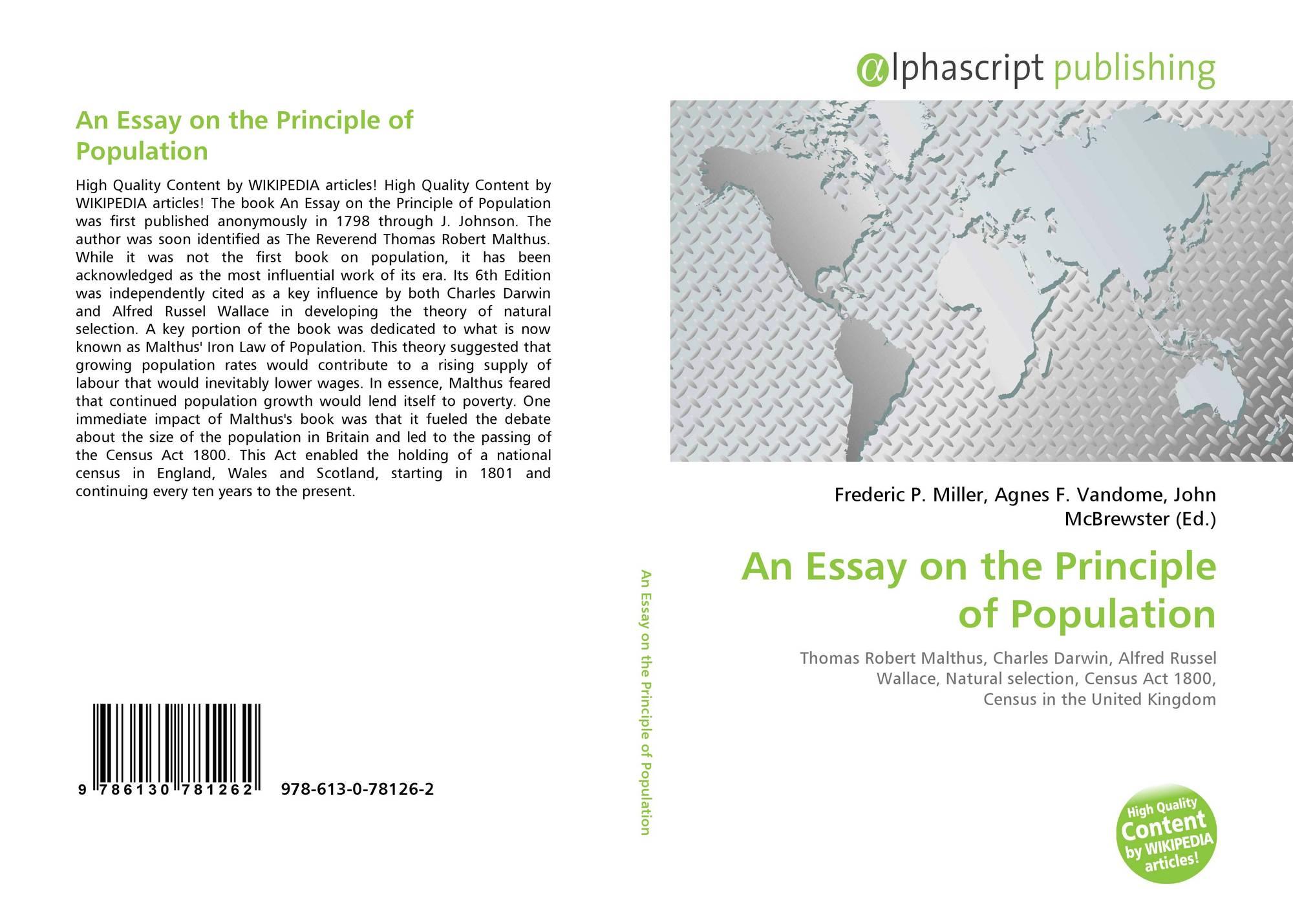 022 Essay On The Principle Of Population Example Singular Pdf By Thomas Malthus Main Idea Full