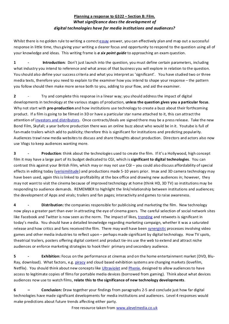 022 Modelessayplanforag322mediastudiesfilmresponse Phpapp01 Thumbnail 4cbu003d1332315792 Essay Example Evaluation Awful Topics Questions With Criteria Full