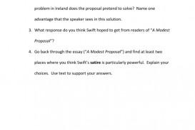 022 Modest Proposal Essay 007750259 2 Exceptional Conclusion Topics Prompts