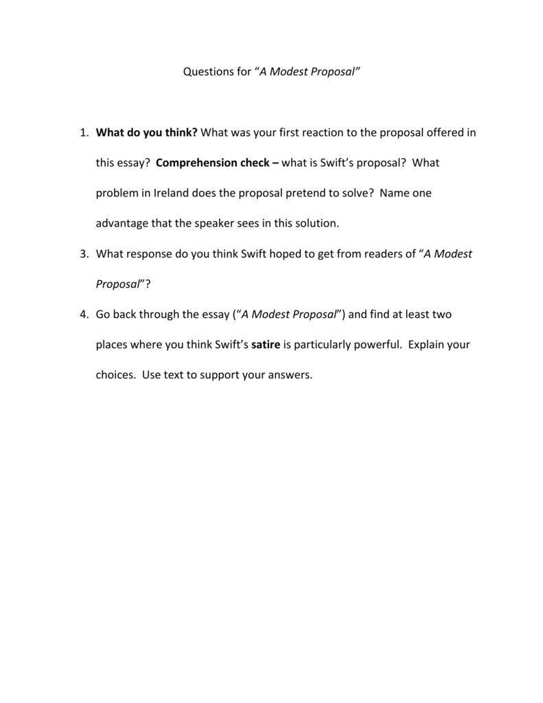 022 Modest Proposal Essay 007750259 2 Exceptional Conclusion Topics Prompts Full
